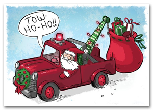 HML1512, Automotive Holiday Cards - Towing