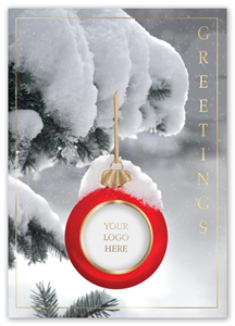 product n3631 sincerely yours company holiday card - Business Holiday Cards With Logo