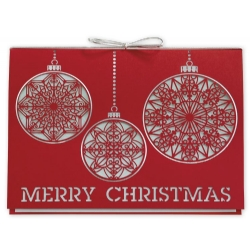 H15603, Simply Merry Laser Cut Christmas Cards