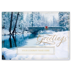 H15627, Blissfully Bridged Holiday Cards