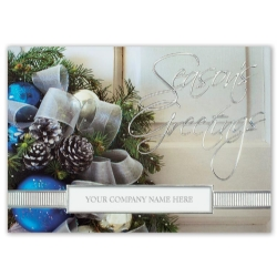 H15629, Sapphire & Silver Holiday Cards
