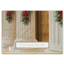 Holiday Pillar Attorney Legal Holiday Cards