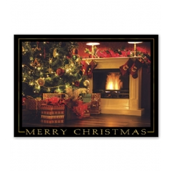Holiday Christmas Card- Stockings Aglow