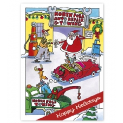 Automotive Holiday Card- North Pole Repair