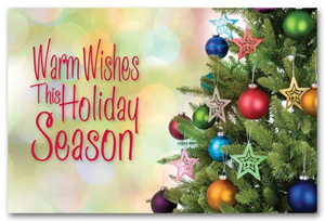 Personalized Holiday Postcards - Classic Wishes