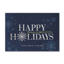 holiday cards christmas cards happiest year blue metallic