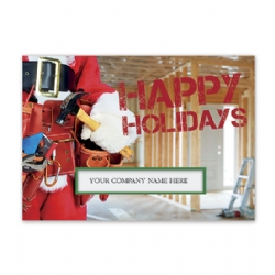 Construction Kringle Contractor and Builder Holiday Card