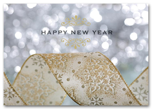 product hs1319 new year glitter holiday card
