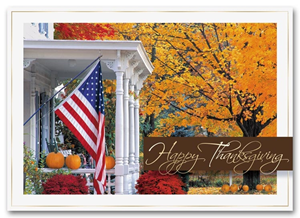 H2665, Personalized Thanksgiving Cards -  Golden Days