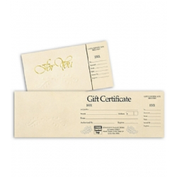 Gift Certificate- Ivory and Gold
