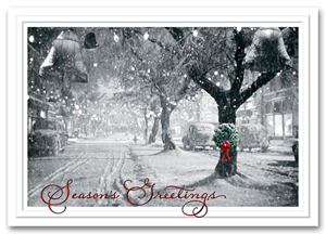 HH1639, Wreath Holiday Cards - Memory Lane
