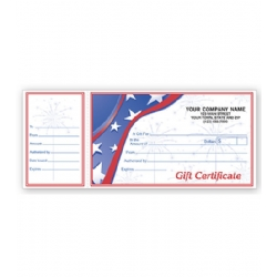 detachable gift certificates customizable