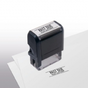 103014, Past Due Please Remit Today! Stamp - Self-Inking