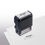 103034, Received w/ boxes Stamp - Self-Inking