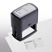 103044, Fax Request/Cover Sheet Stamp - Self-Inking