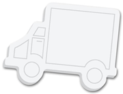 Truck Shaped Sticky Notepads