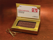 Custom Chocolate Business Cards