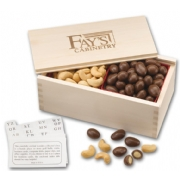 108793, Sample Chocolate Almonds & Cashew Filled Wooden Coll
