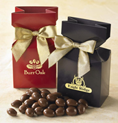 Chocolate Almonds in Custom Printed Bags