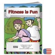 109280, Fitness Is Fun Coloring Book