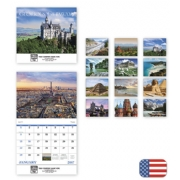 2017 Wall Calendar with Beautiful Getaways