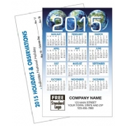 2015 Wallet Calendar with Globe Design