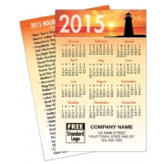 2015 Wallet Calendar with Sunset Lighthouse