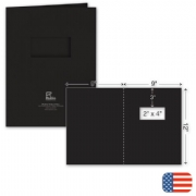 109812, One Part Report Cover - Foil Imprint - w/window