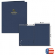 109820, Top Tab Presentation Folder - Foil Imprint