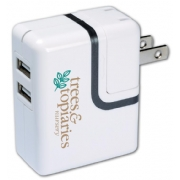 109895, Dual USB Port AC Mobile Charger