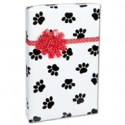 Dog paws gift wrap paper