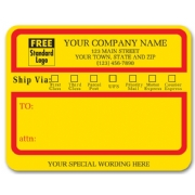 "1200A, Jumbo Mailing Labels w/ ""Ship Via"" Check Boxes, Padde"