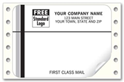 1234, First Class Mail, Mailing Labels, Continuous, White