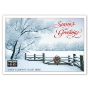 MT14041, Sugar Branches Holiday Logo Cards Imprinted