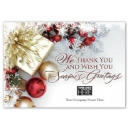 MT15024, Gift of Thanks Holiday Logo Cards Imprinted