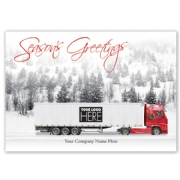 On the Road Truck Driver Holiday Logo Cards