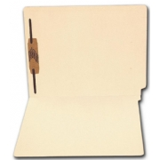 1344, End Tab Full Cut Manila Folder, 11 pt, One Fastener