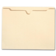 "Top Tab Manila Pocket Folder - 11 pt, 1 1/2"" expansion"