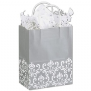 Paper Shopping Bag- Medium- Silvery Chic