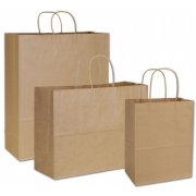 Kraft Assortment Paper Shopping Bags