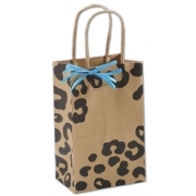 Kraft-Cheetah Small Paper-Shopping-Bag