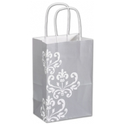 Paper Shopping Bag- Small- Silvery Chic