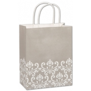 Paper Shopping Bag Champagne with Cream Design