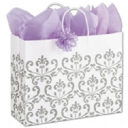 Silvery Chic Paper Shopping Bags