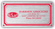 Weatherproof Plate Labels, Brushed Chrome
