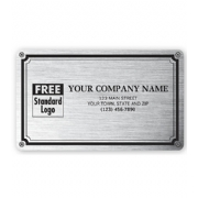 Weatherproof Plate Labels, Brushed Chrome & Green