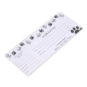 Dog Paws Gift Certificates