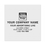 Square Corner Paper Label