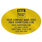 Oval Paper Label