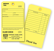 Repair Tags with Claim Check